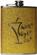 Hip Flask - 240ml Girls Night Out Gold