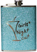 Hip Flask - 240ml Girls Night Out Turquoise