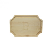 """CHUBBCO 310-B Cutting Board with Scalloped Corners, 30cm by 46cm by 2.5cm , Monogrammed """"B"""", Maple"""