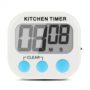 Xcellent Global Electronic Digital Kitchen Timer Count Up and Down with Extra Large Display Screen, Loud Alarm, Magnetic Backing and Retractable Stand Hook HG108