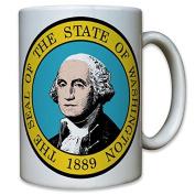 Seal of Washington DC USA United States of State Crest Emblem 1889 Coffee Mug#10490 T