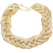 Q & Q Fashion Vintage Gold Egyptian Cleopatra Style Bold Snake Braided Chain Statement Bib Necklace,50cm