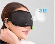 tinxi® 3D high quality sleep mask eye mask Sleeping Masks for Men & Women black