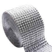 1 Yard Diamond Diamante Effect Mesh Ribbon Crystal Effect Wrap for Home Party Wedding Decoration