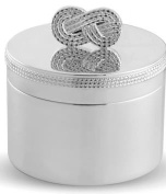 Vera Wang by Wedgwood - Silver Plated Infinity Baby First Curl/Tooth Box