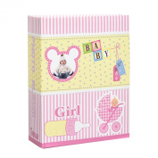 Arpan Small 6x4 Baby Girl Pink Photo Album Slip in Case Storage Album for 100 Photos - Ideal Gift