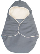 Wallaboo Baby Blanket Coco nore - For Car seat and Travel - Warm and safe - 90 X70 cm - For Babies from Newborn - grey