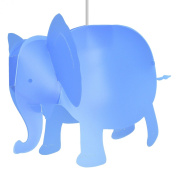 R & M Coudert Children's Hanging Elephant Light, Ivory Cream