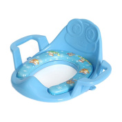 Arm and Hammer Secure Comfort Potty Seat, Baby Potty Ring With Cushion, Blue