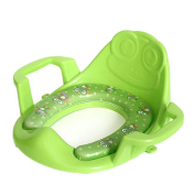 Arm and Hammer Secure Comfort Potty Seat, Baby Potty Ring With Cushion, Green