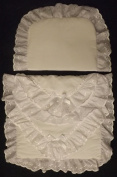 COACH BUILT PRAM BEDDING SET for Silver Cross Dolls Oberon Chatsworth White Braderie Anglaise