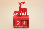 Red Riendeer Design Desktop Advent countdown Calendar Block
