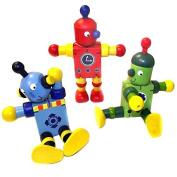 Wooden Flexi Robot Toy