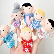 COOLCASE 6pcs Family Finger Puppets toys