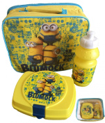 Official Licenced Minions I Don't Give A Blumock Lunch Bag Bottle Snack Box Set