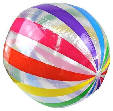 Enimay 110cm Jumbo Large Beach Ball Inflatable Deflatable Swimming Pool Toy by Enimay