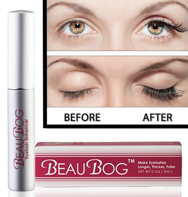Eyelash Rapid Growth Serum 7 Day Results with no side effects - Most Advanced 100% NATURAL & utmost powerful Ingredients Used -Have your eyelashes Darker, Longer, Thicker, and Nicer in no time with BeauBog (TM)