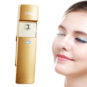 SKG Premium Handheld Nano Ionic Cool Mist Face Hydration Sprayer - 10x More Effective Than Facial Mask - Portable Facial Humectant Steamer Ionic Mister - USB Rechargeable Face Hydration Spray - Sliding Facial Atomizer Facial Steamer - Moisture Facial S ..
