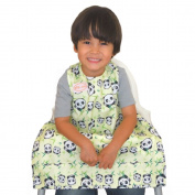BIB-ON, A New, Full-Coverage Bib and Apron Combination for Infant to Toddler Ages 0-4+. One Size Fits All!