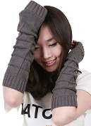 Knitted Wool Winter Warm Long Arm Sleeve Fingerless Arm Gloves for Ladies Women Girl