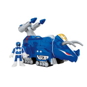 Fisher-Price Imaginext Power Rangers Blue Ranger and Triceratops Zord