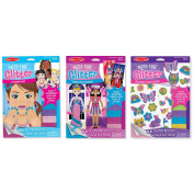 Melissa & Doug Mess Free Glitter Bundle - Party Fashions, Glamour Faces and Friendship Foam