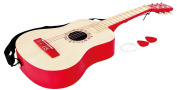 Vibrant Red Guitar