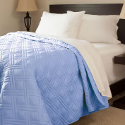 Lavish Home Solid Colour Bed Quilt - Twin - Blue