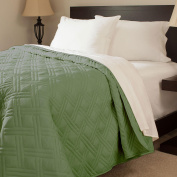 Lavish Home Solid Colour Bed Quilt - Twin - Green