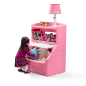 100cm . H x 70cm . W Plastic Lift and Hide Storage Chest in Pink