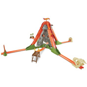Hot Wheels Track Builder Volcano Escape Trackset, Frustration-Free Packaging