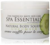 Spa Essentials Natural Body Souffle, Cucumber, 240ml