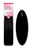 Pink Diamond Human Hair Extensions - Remi Spanish Wave 30cm - #1 Black - Size