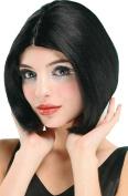Ladies Fancy Dress Party Centre Parting Top Short Cut Fake Artificial Wig Black