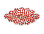 Faship Hair Barrette Clip Gorgeous Red Crystal