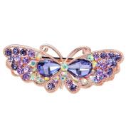 EASYA Fashion Women Jewellery Dancing Butterfly Crystal Rhinestone Hair Clips Hairpins- For Hair Clip Beauty Tools,Purple