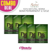 6 Pcs Combo Deal Reshma Henna Semi Permanent Hair Colour 60ml