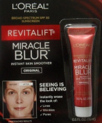 L'Oreal Paris **4 PACK** Revitalift Miracle Blur Instant Skin Smoother Finishing Cream with Broad Spectrum SPF 30 Sunscreen .5 Oz (15 mL) - 2 PACK