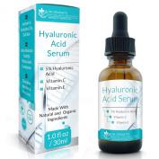 Dr. Straight's Hyaluronic Acid Serum Anti Ageing Serum with Vitamin C - Pharmacist Formulated