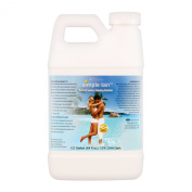 Belloccio Simple Tan Half Gallon Bottle of Professional Salon Sunless Tanning Solution with 12% DHA and Dark Bronzer Colour Guide