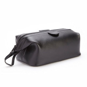 Royce Leather Travel Toiletry Bag in Leather, Black