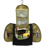 Big Toiletry Bag for High Shampoo with Haning Hook Black