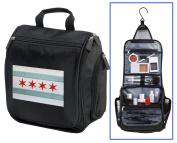 Chicago Flag Toiletry Bag or Shaving Kit - Travel Bag Chicago Cosmetic Bag
