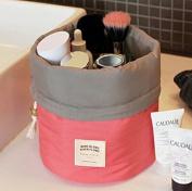 Annie Queen Travel Restroom Barrel Cosmetic Bag multi Makeup Bags,Pink