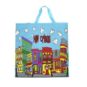 New Orleans Wavy Houses (Crooked) Tote Bag