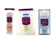Pure-Aid Pure Cotton Set Cotton Ball Cotton Rounds Cotton Swabs