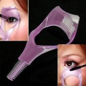 MERSUII™ Cosmetic 3 in 1 Mascara Applicator Guide Tool Eyelash Comb Makeup Plastic Curler Beauty
