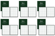Ward 18 Lesson Plan Book, Wirebound, 8 Class Periods/Day, 11 x 8-1/2, 100 Pages, Green (HUB18), 6 Packs