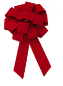 Forum Velvet Car Bow, 60cm , Red