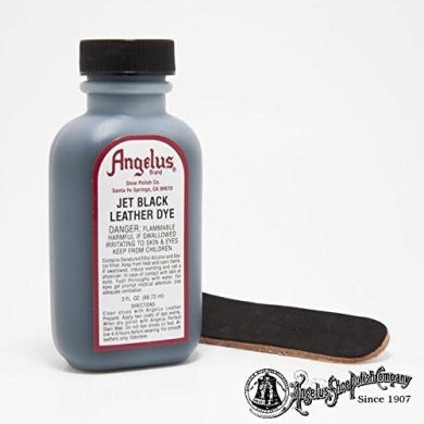 "Angelus Brand Leather Dye W/applicator - 90ml ""Jet Black"""